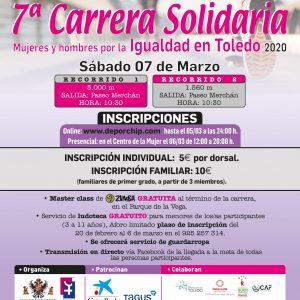 ª CARRERA SOLIDARIA MUJERES Y HOMBRES POR LA IGUALDAD EN TOLEDO 2020.