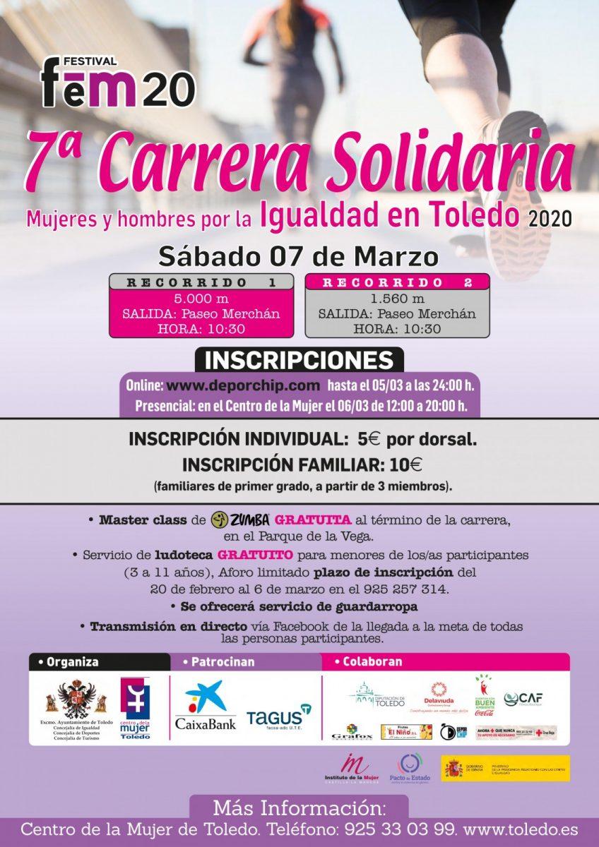 http://www.toledo.es/wp-content/uploads/2020/02/carrera-solidaria-7-de-marzo-848x1200.jpg. 7ª CARRERA SOLIDARIA MUJERES Y HOMBRES POR LA IGUALDAD EN TOLEDO 2020.