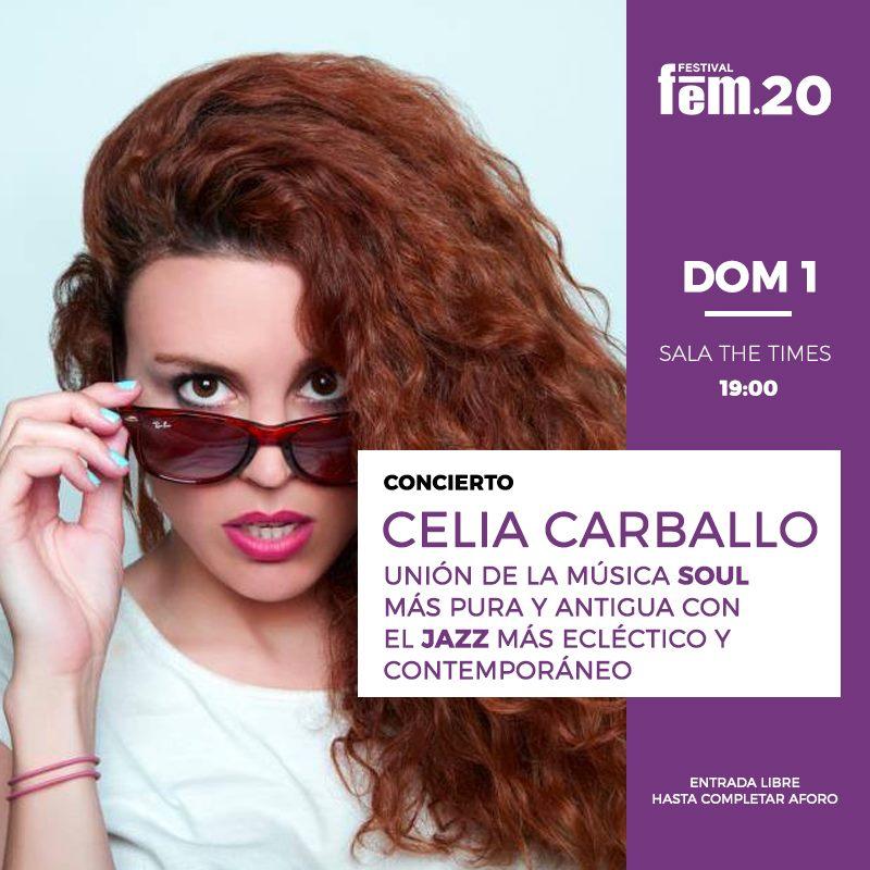 https://www.toledo.es/wp-content/uploads/2020/02/domingo-1-marzo.-concierto-celia-carballo.jpg. Festival FEM20.  Domingo 1 marzo. Concierto Celia Carballo