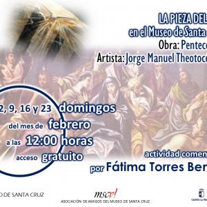 """Pieza del mes: Exposición comentada del cuadro """"Pentecostés"""""""