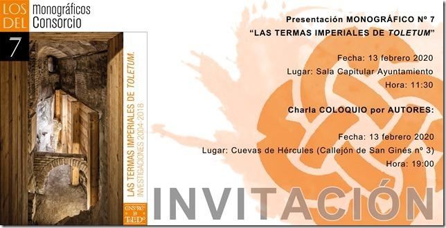 https://www.toledo.es/wp-content/uploads/2020/02/invitacion2-1.jpg. Monográficos del Consorcio: Las termas imperiales de Toletum