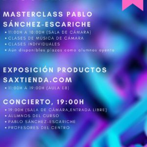 I Jornadas de Saxofón de Toledo: Masterclass Pablo Sánchez-Escariche