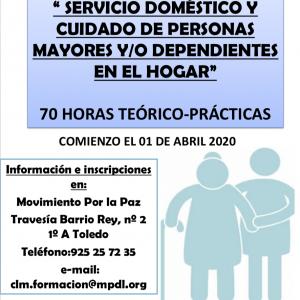 Curso gratuito: Servicio doméstico y cuidado de personas mayores y/o dependientes dentro del hogar
