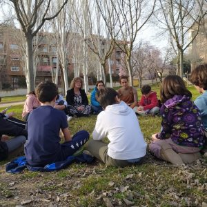 l Consejo de Participación de la Infancia y Adolescencia se reúne en el Parque de las Tres Culturas con la concejala de Parques y Jardines