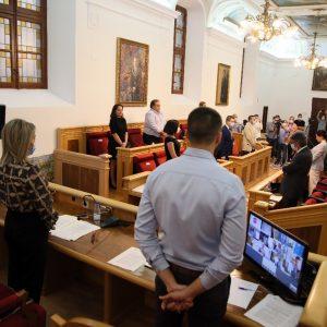 l Pleno recuerda a las víctimas de la Covid-19 y la alcaldesa avanza un acto de izado de banderas a media asta en señal de luto