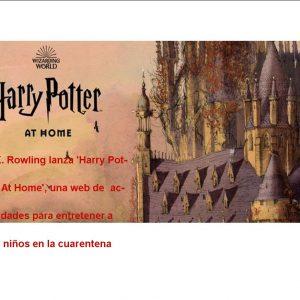 """.K Rowling lanza la web """"Harry Potter en casa"""" para niños y mayores"""