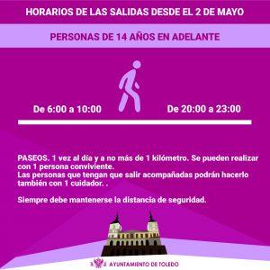 orarios y condiciones para paseos y práctica deportiva