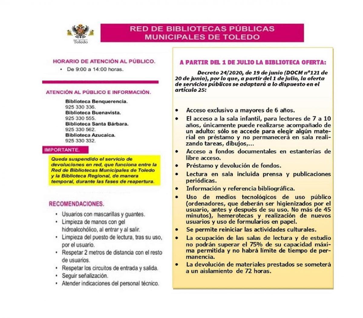 https://www.toledo.es/wp-content/uploads/2020/06/1-de-julio-1200x1052.jpg. A partir del 1 de Julio de 2020, Nueva normativa y recomendaciones para el servicio de Bibliotecas Municipales del Ayuntamiento de Toledo