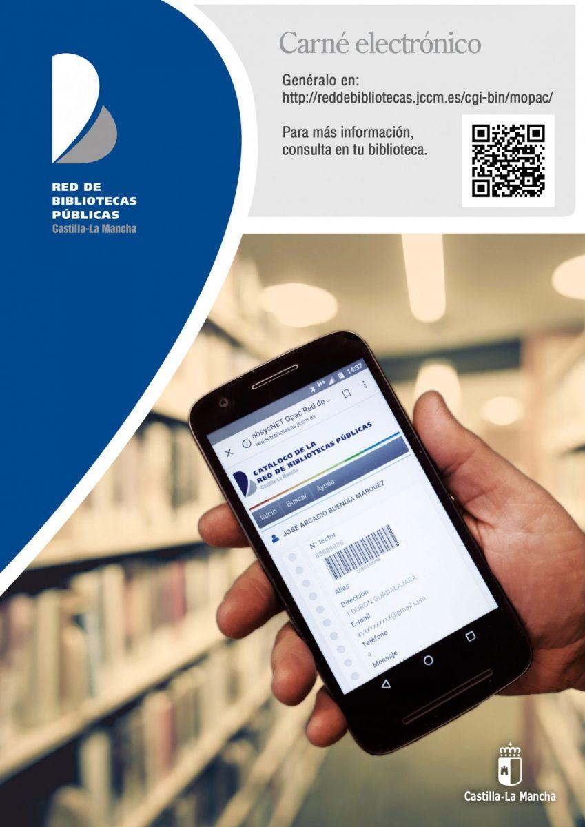 https://www.toledo.es/wp-content/uploads/2020/06/cartel_carneelectronicobiblio-849x1200.jpg. Cómo tener tu carné de Biblioteca en el móvil. Ve al mopac de la red de bibliotecas de Castilla-La mancha y sigue las instrucciones.