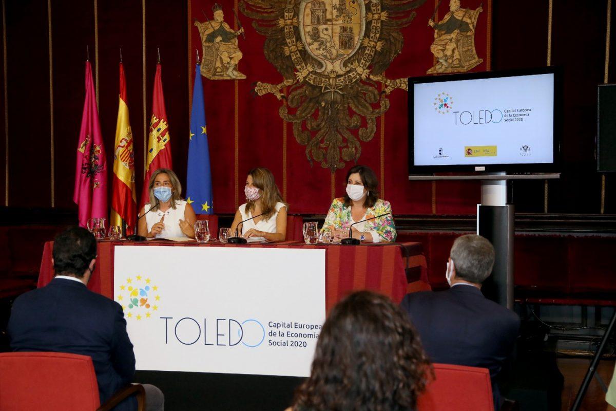 """https://www.toledo.es/wp-content/uploads/2020/07/6_acto_economia_social-1200x800.jpg. Milagros Tolón: """"Ser Capital Europea de la Economía Social permitirá a Toledo posicionarse como referente en políticas de acción social"""""""