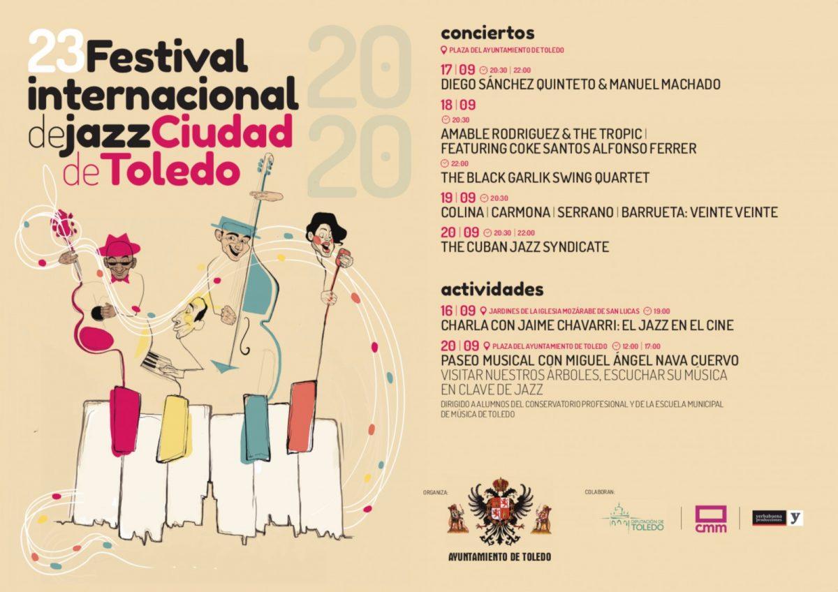 https://www.toledo.es/wp-content/uploads/2020/09/cartel-jazz-1200x848.jpg. Los conciertos del Festival de Jazz de este jueves y viernes cambian de escenario a cubierto por la predicción de tormentas