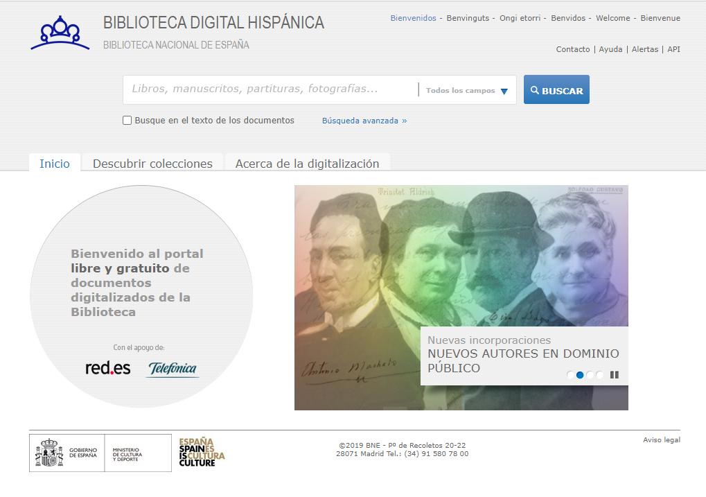 https://www.toledo.es/wp-content/uploads/2020/09/hispana.png. Las colecciones digitales de la Biblioteca Nacional de España en formato ePub