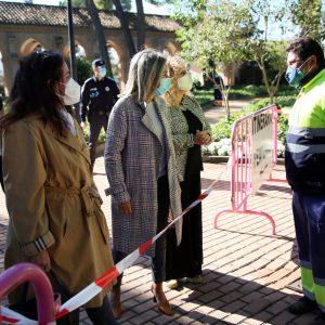 a alcaldesa revisa el protocolo del Día de los Santos y anuncia una inversión de más de 150.000 euros en el Cementerio