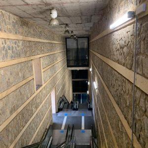 l Ayuntamiento renueva la iluminación del remonte del Miradero y ejecuta la limpieza de las zonas inferiores de las escaleras