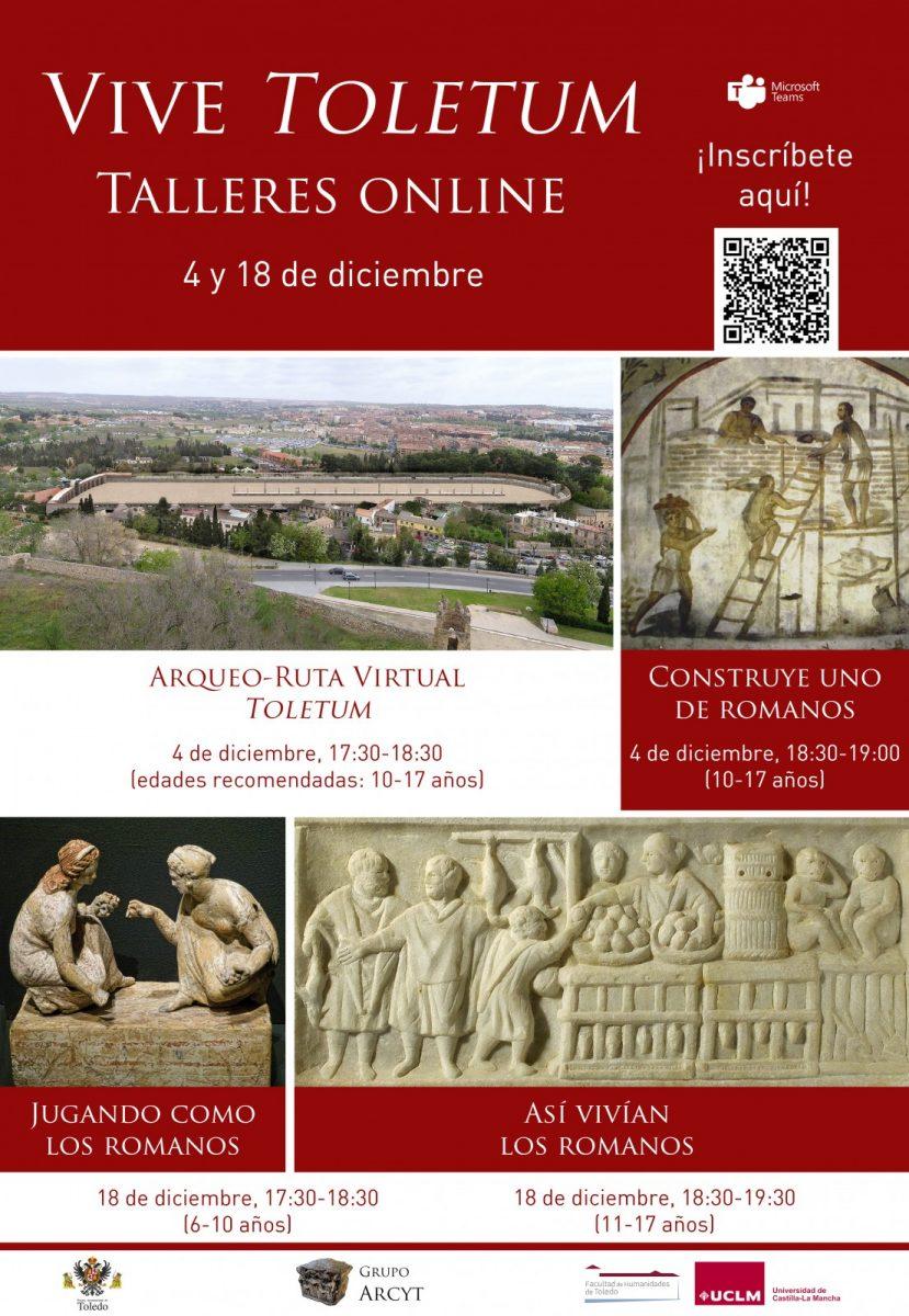 """https://www.toledo.es/wp-content/uploads/2020/12/cartel-vive-toletum-829x1200.jpg. VIVE TOLETUM: Taller online """"Así vivían los toletani + Jugando como los romanos"""""""