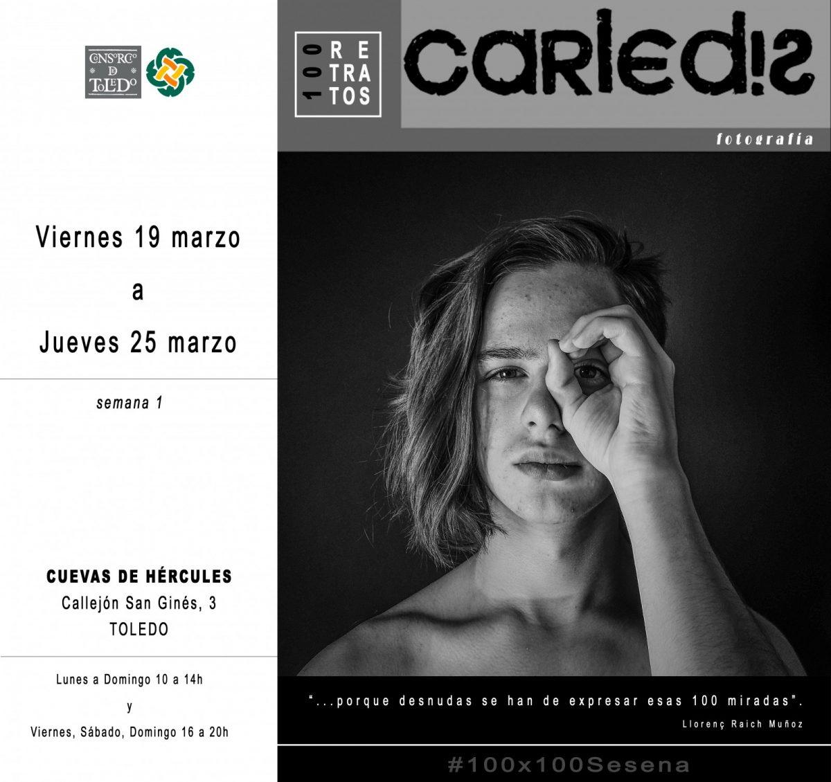 https://www.toledo.es/wp-content/uploads/2021/03/cartel100retratosgeneral_primerasemana-1200x1130.jpg. 100 RETRATOS de CARLOS EDISTIO