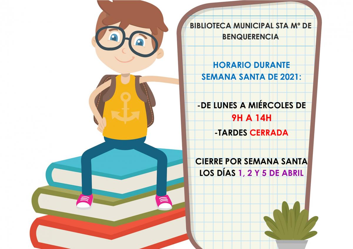 https://www.toledo.es/wp-content/uploads/2021/03/horario-semana-santa-1200x848.png. Horario de apertura de la biblioteca durante la Semana Santa de 2021.