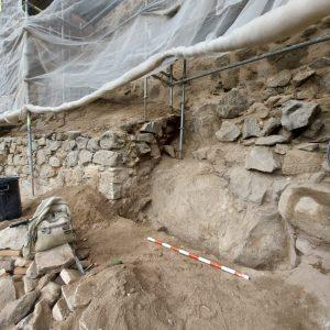 """a alcaldesa celebra el hallazgo de la muralla Omeya, """"una joya patrimonial"""" que se pondrá en valor con su protección"""
