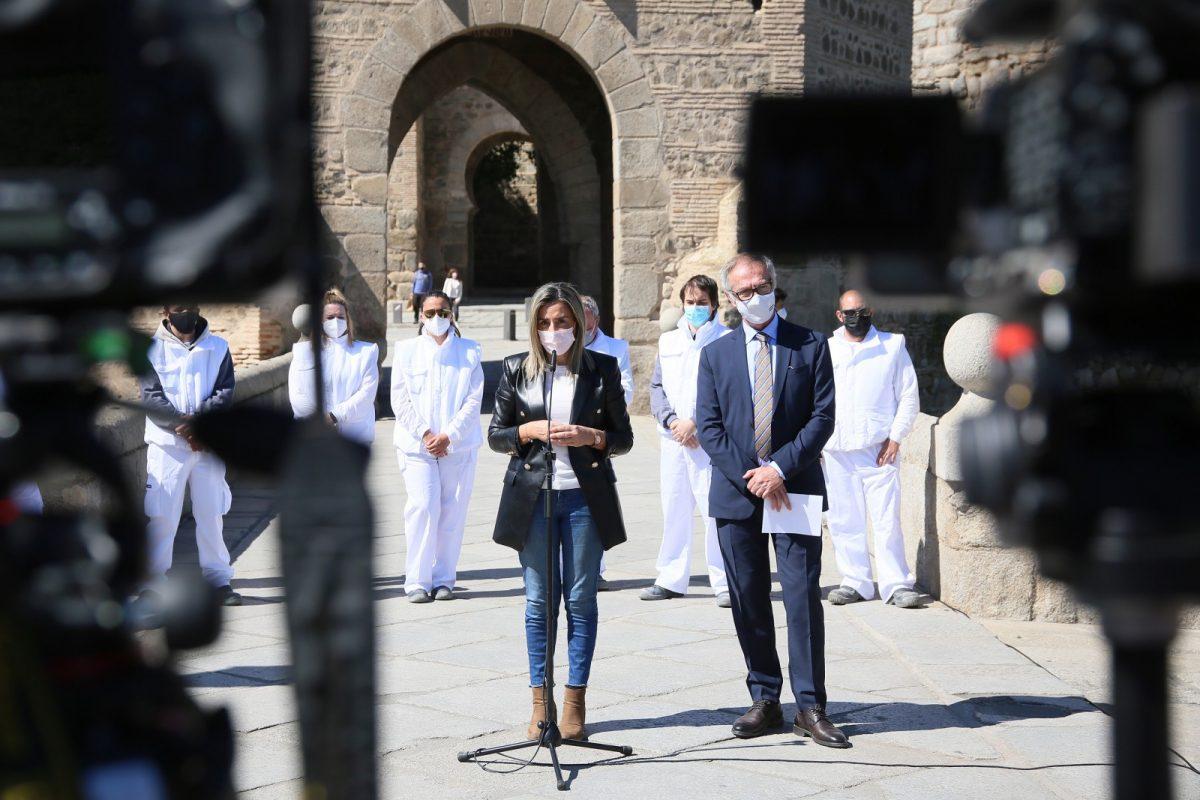 https://www.toledo.es/wp-content/uploads/2021/03/torreon_alcantara_34-1200x800.jpg. El Ayuntamiento de Toledo y Fundación Montemadrid ponen en marcha la Escuela de Empleo para restaurar el torreón medieval del puente de Alcántara