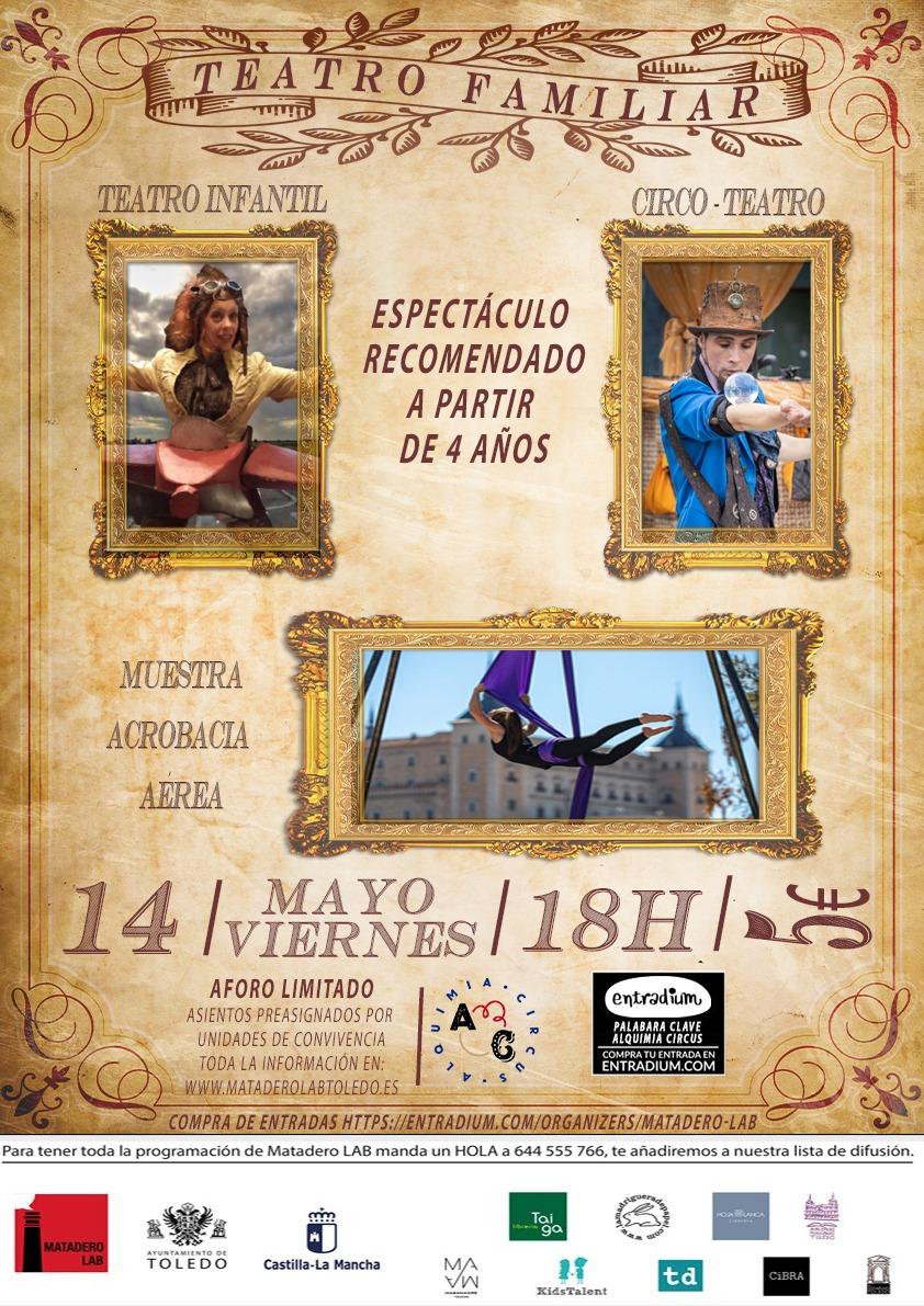 https://www.toledo.es/wp-content/uploads/2021/04/area-toletum-matadero-lab-14-mayo.jpeg. Tarde de actividades familiares organizada por Alquimia Circus