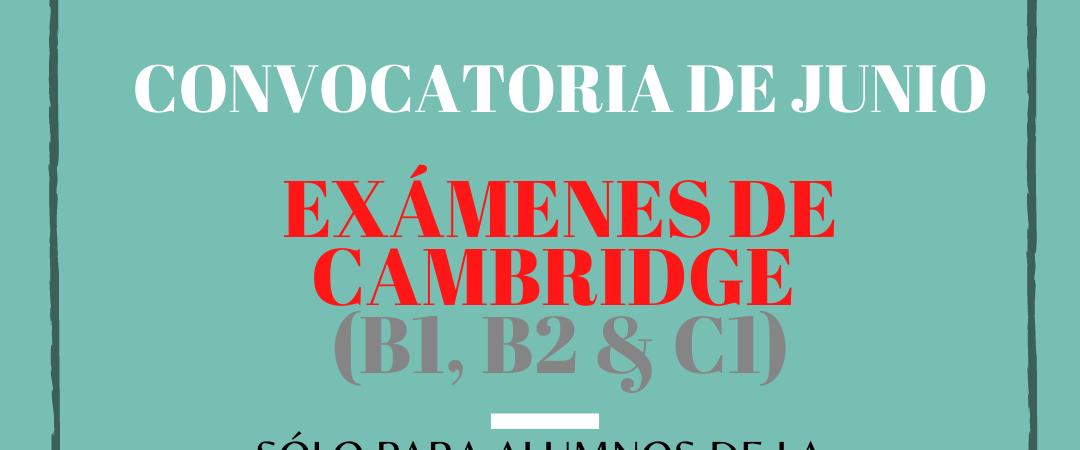 Convocatoria exámenes de Cambridge junio (Escuela Municipal…