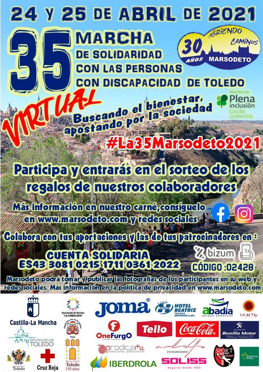 https://www.toledo.es/wp-content/uploads/2021/04/cartel-35-marcha-2021-849x1200.jpeg. 35 Marcha de Solidaridad con las Personas con Discapacidad de Toledo