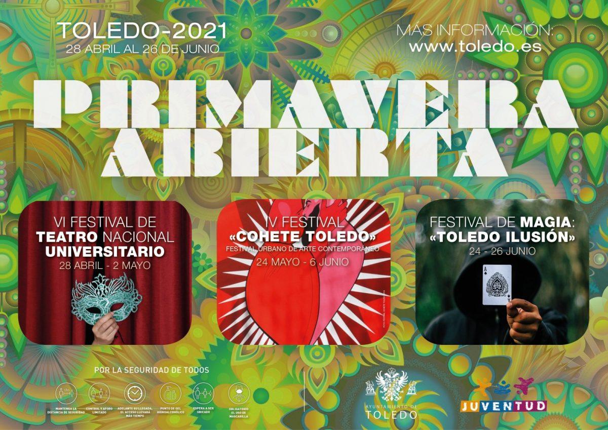 "https://www.toledo.es/wp-content/uploads/2021/04/cartel-modificado-1200x849.jpg. Programa ""PRIMAVERA ABIERTA"""