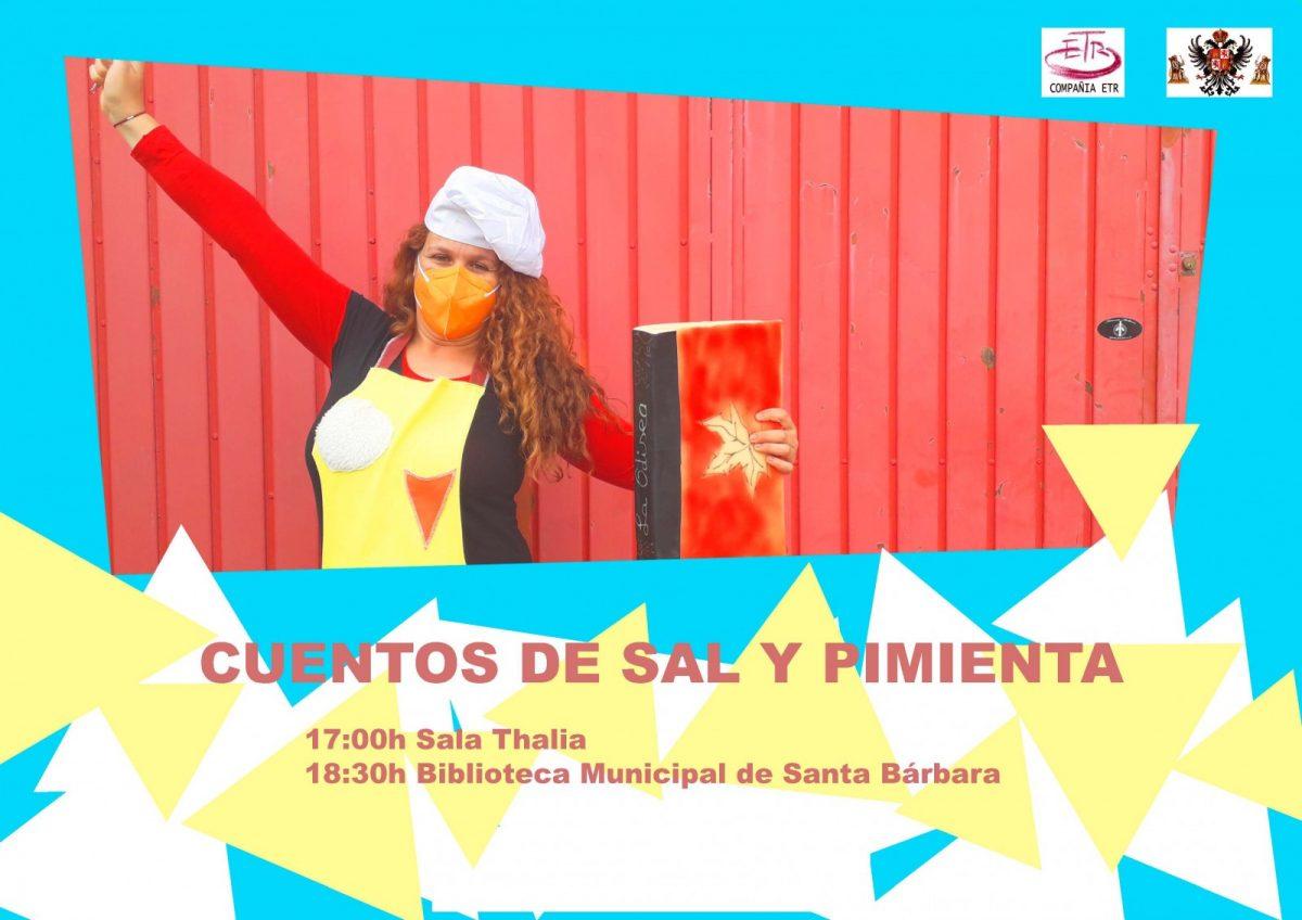 """https://www.toledo.es/wp-content/uploads/2021/04/cuentac-cocina.thalia.barbara-1200x848.jpg. Cartel de """"Cuentos de sal y pimienta""""   – Viernes 23 de abril, 18:30 horas – Cuentacuentos"""