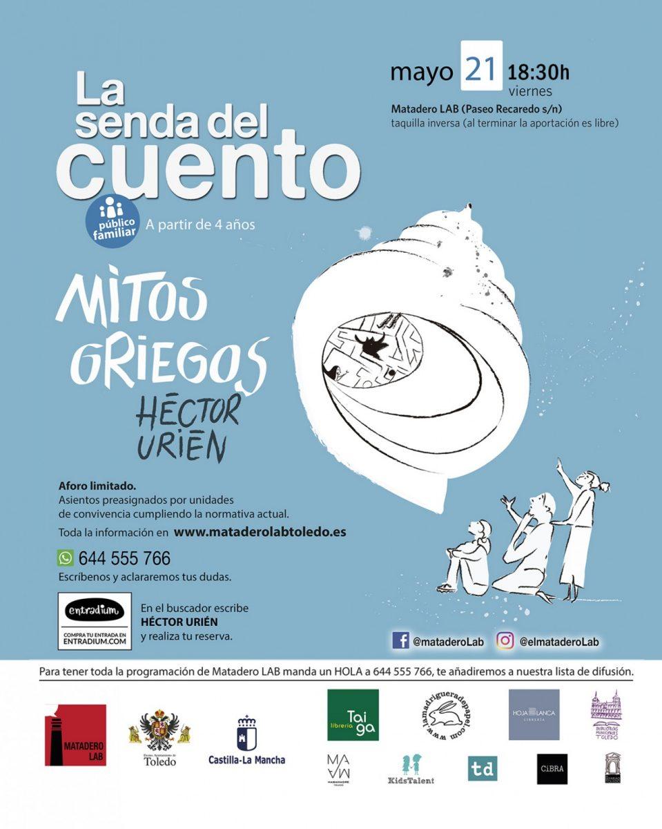 https://www.toledo.es/wp-content/uploads/2021/04/hector-urien-matadero-lab-familiar-entradium-959x1200.jpg. Mitos Griegos – Cuentos para público familiar con Héctor Urien