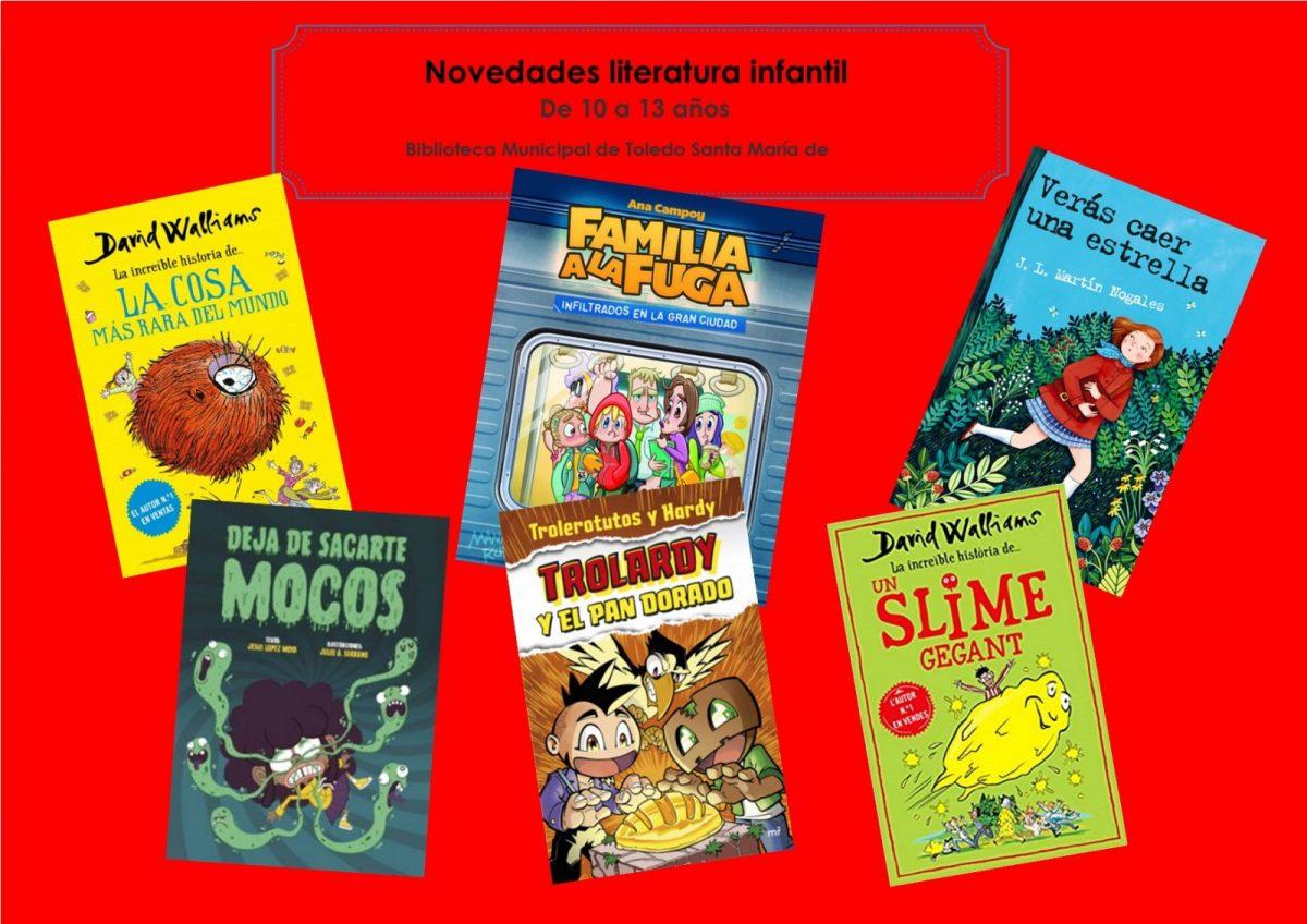 https://www.toledo.es/wp-content/uploads/2021/04/infantiles-rojos-abril-mayo-2021.png-1200x848.jpg. Novedades de literatura infantil de 10 a 13 años, en la Biblioteca Municipal de Toledo Santa María de Benquerencia