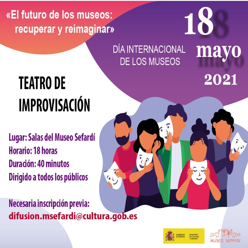 """https://www.toledo.es/wp-content/uploads/2021/04/internacional-de-los-museos.jpg. Día Internacional de los Museos – Teatro de improvisación. """"El futuro de los museos lo decides tú"""""""