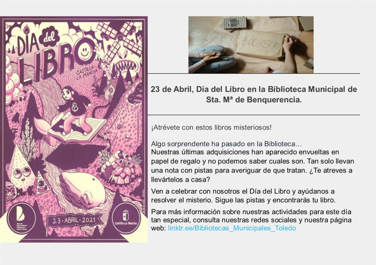 https://www.toledo.es/wp-content/uploads/2021/04/nota-de-prensa-1200x848.png. 23 de Abril, Día del libro en la Biblioteca de Santa María de Benquerencia