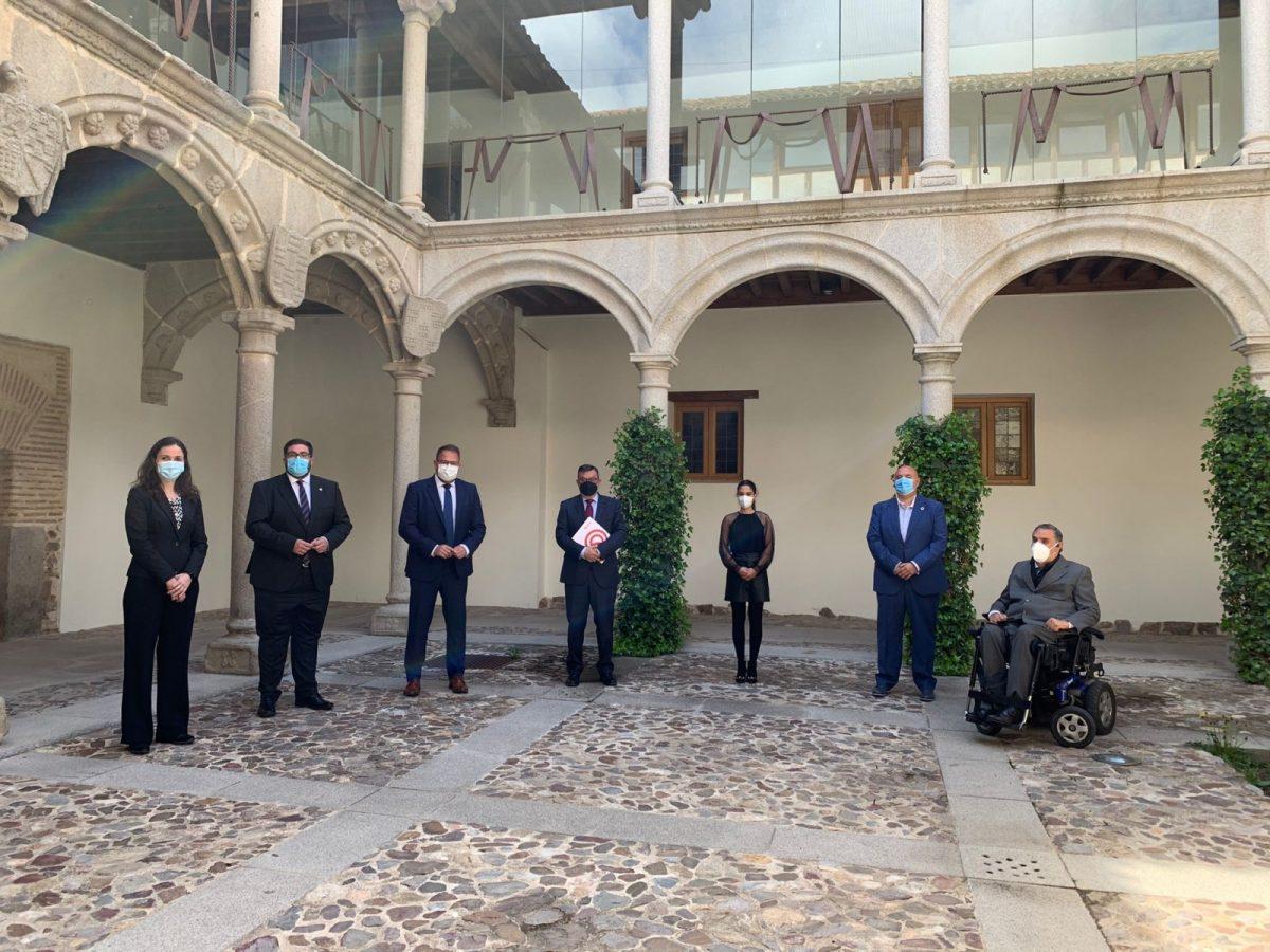 https://www.toledo.es/wp-content/uploads/2021/04/photo-2021-04-14-13-12-39-1200x900.jpg. Toledo y las Ciudades Patrimonio apuestan por la inclusión y renuevan el convenio de colaboración con la Fundación ONCE