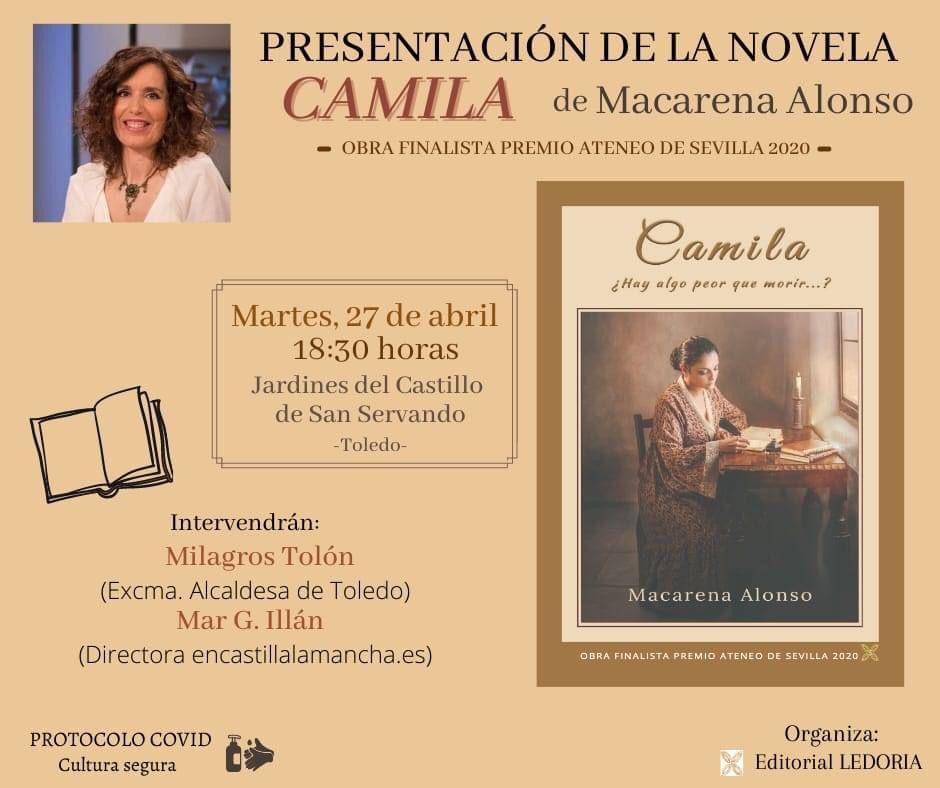 "https://www.toledo.es/wp-content/uploads/2021/04/photo-2021-04-22-14-24-03.jpg. Presentación de la novela ""Camila"" de Macarena Alonso"