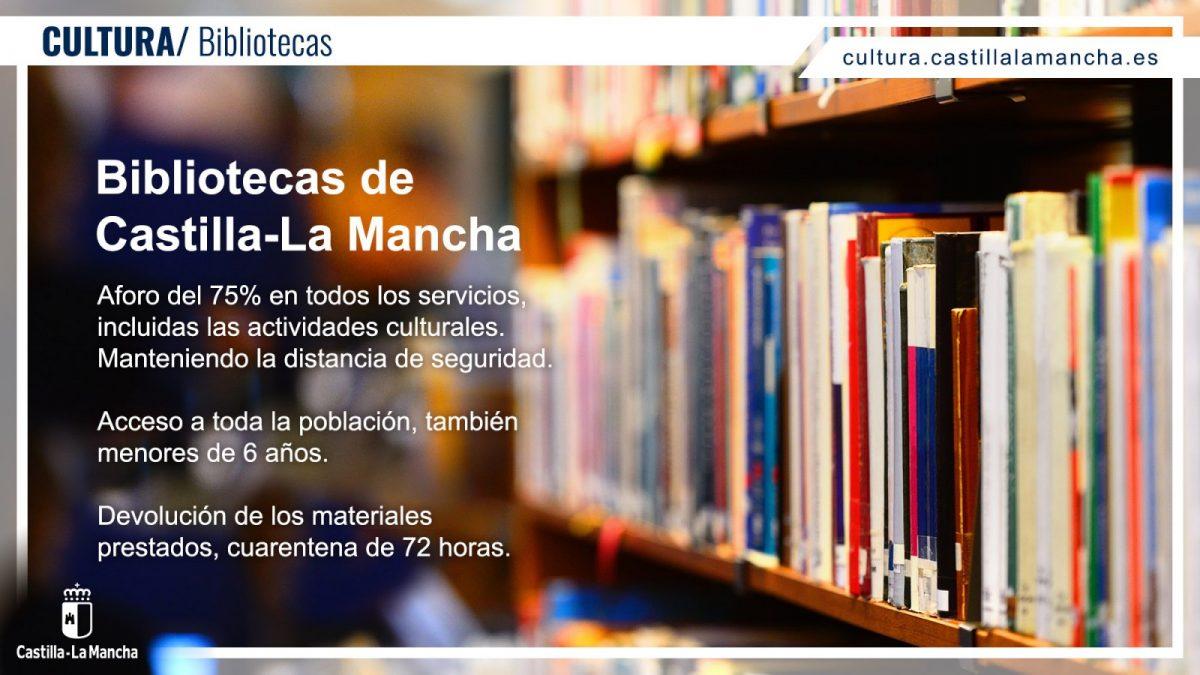 https://www.toledo.es/wp-content/uploads/2021/05/bibliotecasfinalarma-1-1200x675.jpg. Nuevas medidas en las bibliotecas de Castilla-La Mancha tras el fin del estado de alarma