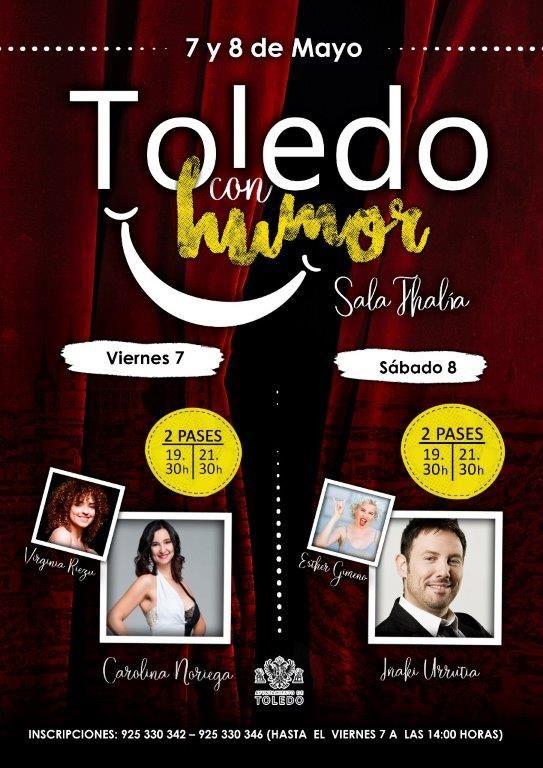 """https://www.toledo.es/wp-content/uploads/2021/05/cartel-002.jpg. Festival de monólogos """"Toledo con humor"""". AFORO COMPLETO LOS DOS DÍAS"""