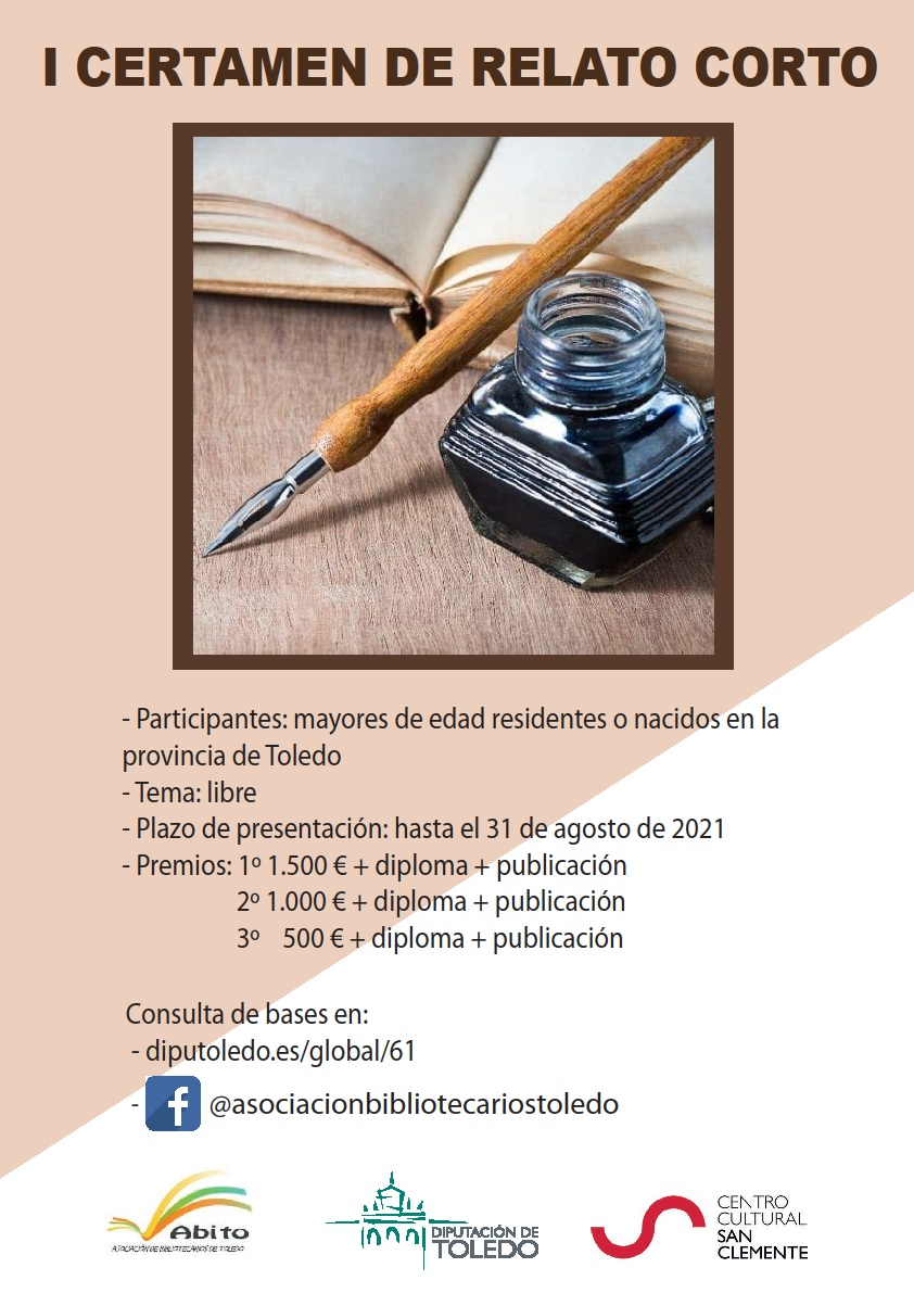 https://www.toledo.es/wp-content/uploads/2021/05/cartel-certamen-relato-corto-2021.jpg. I Certamen de Relato Corto