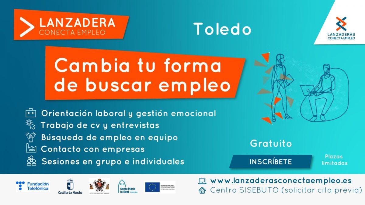 https://www.toledo.es/wp-content/uploads/2021/05/cartel-lanzadera-01-1200x675.jpeg. Últimos días para apuntarse a la Lanzadera Conecta Empleo de Toledo, cuyo plazo de inscripción finaliza el 28 de mayo