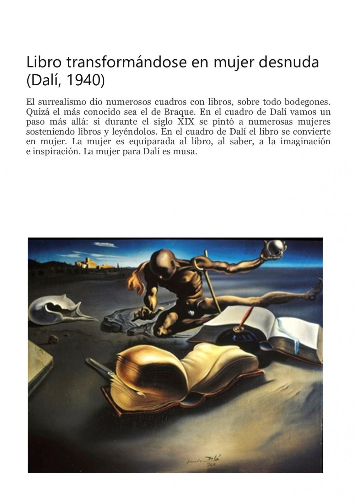 Dali. El libro en la Pintura