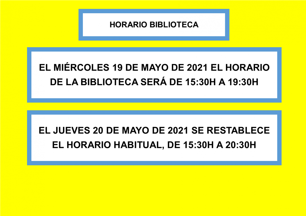 https://www.toledo.es/wp-content/uploads/2021/05/horario-19-de-mayo-2021-1200x848.png. Horario de la Biblioteca el 19 de mayo de 2021