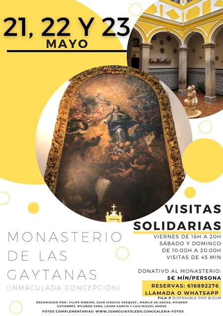https://www.toledo.es/wp-content/uploads/2021/05/image0.jpg. Visitas Solidarias al Monasterio de las Gaytanas (Inmaculada Concepción)