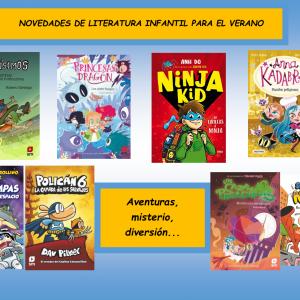 OVEDADES DE LITERATURA INFANTIL PARA EL VERANO