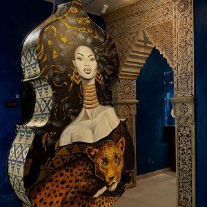 Actuación en el Museo Cromática: Heidy Balza y Ariel Acevedo