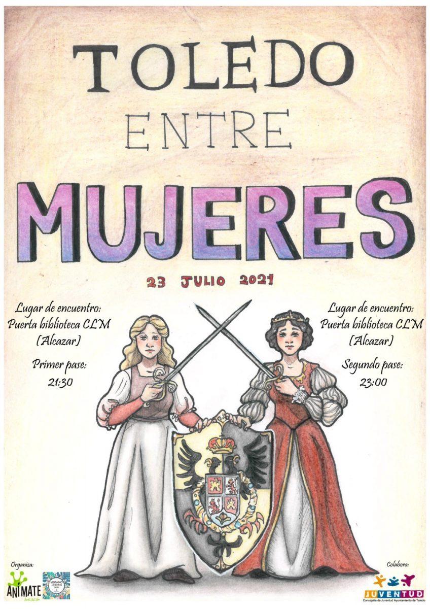 "https://www.toledo.es/wp-content/uploads/2021/07/ruta-animate-848x1200.jpg. Ruta ""TOLEDO ENTRE MUJERES"""