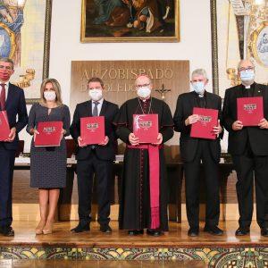 a alcaldesa destaca el legado artístico y patrimonial de la Iglesia en Toledo y la colaboración institucional en pro de la recuperación