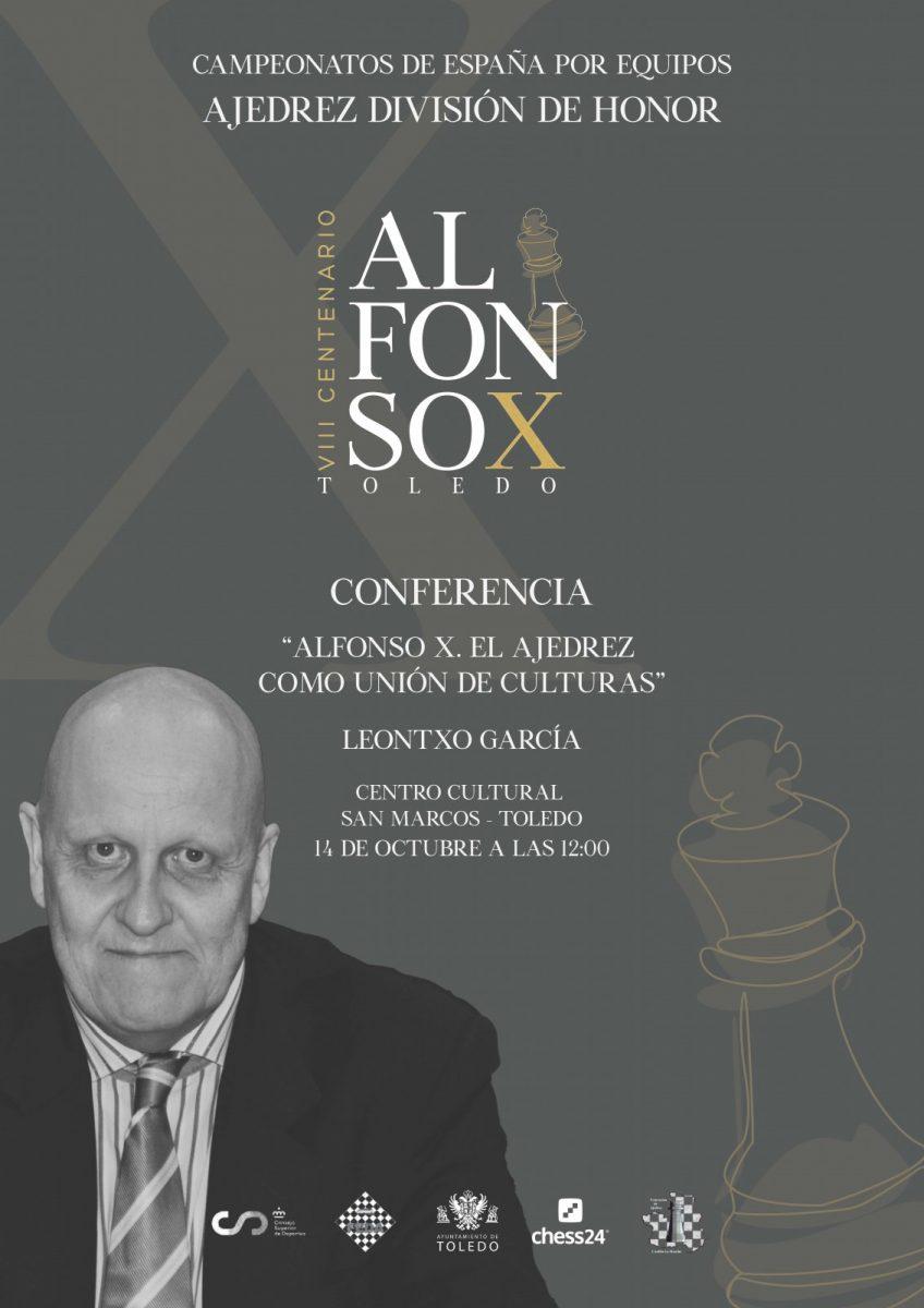 https://www.toledo.es/wp-content/uploads/2021/10/leontxo-campeonato-ajedrez_reduc-1-848x1200.jpg. El periodista y experto en ajedrez Leontxo García ofrece este jueves en San Marcos una conferencia sobre Alfonso X El Sabio